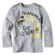 Okie Dokie® Long-Sleeve Transportation Graphic Layered Tee - Boys 2y-6y