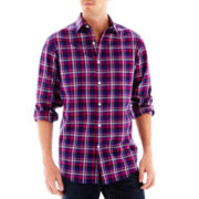 Claiborne® Long-Sleeve Plaid Button-Front Shirt