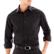 Claiborne® Long-Sleeve Black and White Shirt
