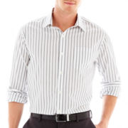 Claiborne® Long-Sleeve Black and White Shirt
