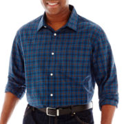 Claiborne Long-Sleeve Woven Shirt-Big & Tall