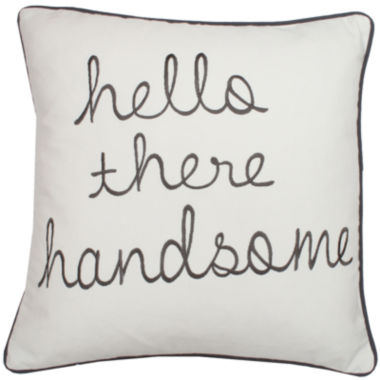"jcpenney.com | ""Hello Handsome"" Decorative Pillow"