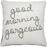 """Good Morning Gorgeous"" Decorative Pillow"