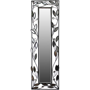 jcpenney.com | Decorative Silver-Tone and Black Leaf Wall Mirror