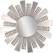 Modern Sunburst Round Wall Mirror