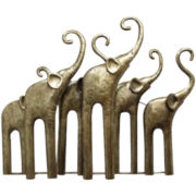 Elephants Metal Wall Sculpture