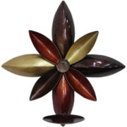 Metal Sunflower Wall Sconce