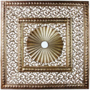Distinctive Gold-Tone Wall Art