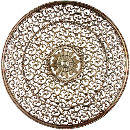 Scrollwork Metal Wall Hanging