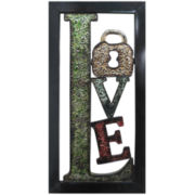 """Love"" Metal Wall Decor"