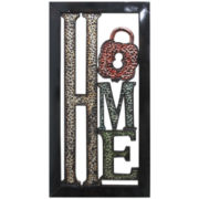 """Home"" Metal Wall Decor"