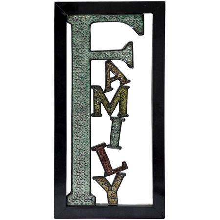 "Family"" Metal Wall Decor"