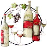 Grapevine and Wine Metal Wall Decor