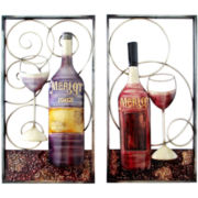 Wine Metal Wall Decor