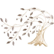 Windy Tree Metal Wall Decor