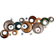 Hammered Links Metal Wall Decor
