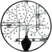 Circular Floral Metal Wall Decor