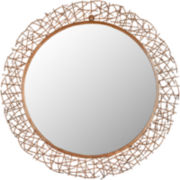 Twig Round Wall Mirror