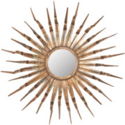 Sunburst Round Wall Mirror