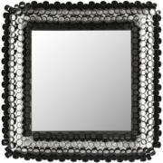 Square Tube Black Wall Mirror