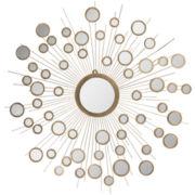 Kiania Starburst Round Wall Mirror