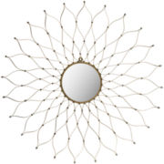 Onile Floral Round Wall Mirror