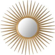 Sunburst Flair Round Wall Mirror