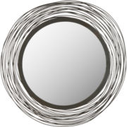Wired Round Wall Mirror