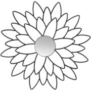 Chrysanthemum Flower Wall Mirror