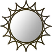 New Mayan Star Round Wall Mirror