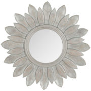 Sunburst King Round Wall Mirror