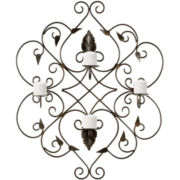 Ornate Votive Candle Holder Wall Sconce