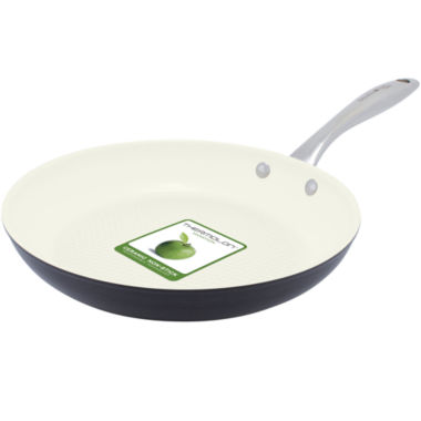 "jcpenney.com | GreenPan™ Lima I Love Cooking 10"" Ceramic Fry Pan for Fish and Veggies"