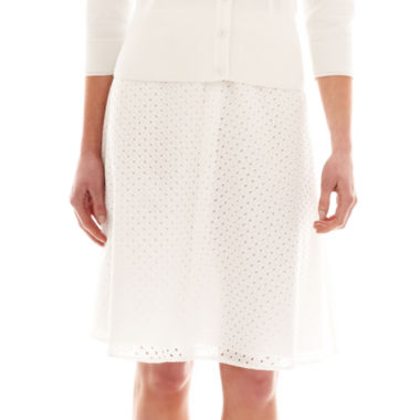 jcpenney.com | Liz Claiborne® Eyelet Circle Skirt - Tall