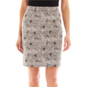Liz Claiborne Double-Cotton Pencil Skirt