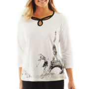 Alfred Dunner® Letters From Paris Eiffel Tower Scene - Petite