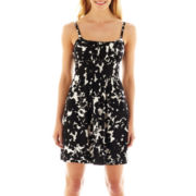 Be Smart Sleeveless A-Line Floral Print Dress