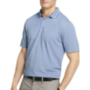 Van Heusen® Short-Sleeve Fine-Striped Ottoman Polo