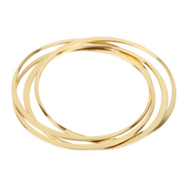 jcpenney.com | Worthington® Gold-Tone Interlock Bangle Bracelets