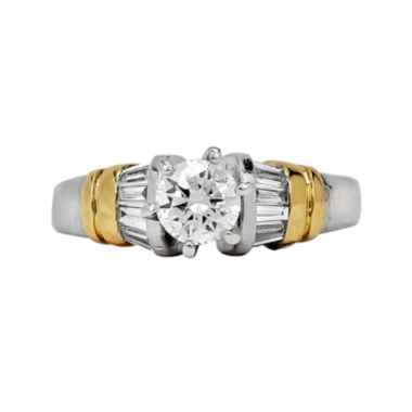 jcpenney.com | LIMITED QUANTITIES 3/4 CT. T.W. Diamond Platinum and 18K Yellow Gold Engagement Ring