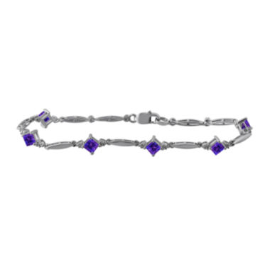 jcpenney.com | Genuine Amethyst and Diamond-Accent Sterling Silver Bracelet