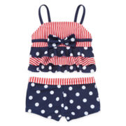 Red, White and Blue Sailor Tankini – Preschool Girls 4-6x