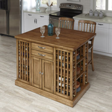 jcpenney.com | Woodsville Kitchen Island and Barstools
