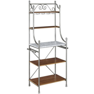 jcpenney.com | Landry 5-Shelf Marble-Top Baker's Rack