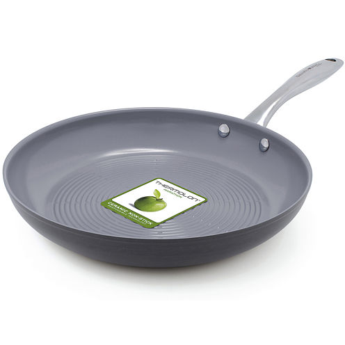 "GreenPan™ Lima 3D I Love Meat and Poultry 11"" Hard-Anodized Fry Pan"