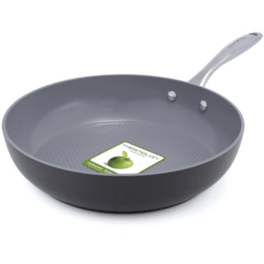 "jcpenney.com | GreenPan™ Lima 3D I Love Fish and Veggies 11"" Hard-Anodized Skillet"