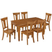 Bransford 7-pc. Rectangular Dining Set