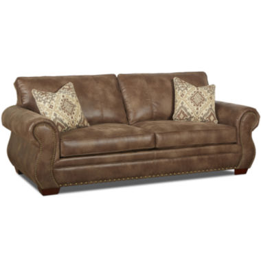 jcpenney.com | Burk Faux-Leather Sofa