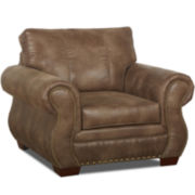 Burk Faux-Leather Chair
