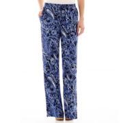 St. John's Bay® Printed Woven Soft Pants